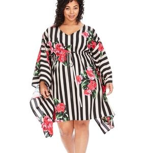 Stripes and Roses Kaftan dress.